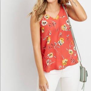 NWT! Maurices Floral Sheer V-Neck Blouse